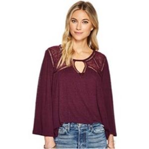 Lucky Brand | Lace Mix Peasant Top Size 1X